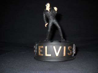 ELVIS PRESLEY THE KING MUSICAL FIGURINE HEARTBREAK HOTEL THE FRANKLIN