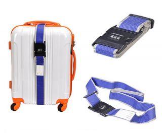 1pc Travel Luggage Suitcase Strap Baggage Belt Nylon Backpack Bag Blue