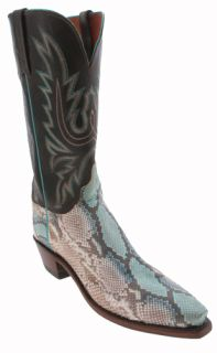 Lucchese Robin Egg Blue N9214 54 Python Womens Cowboy Boots
