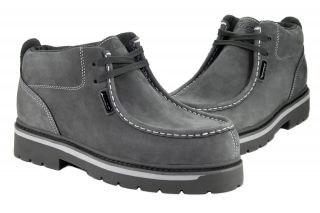 Lugz Strutt MSRUN 0461 Charcoal Light Grey Casual Suede Boots Mens