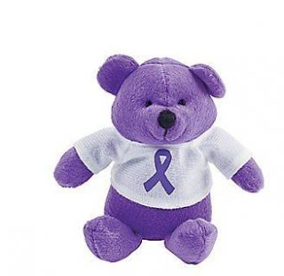 Relay for Life Lupus Pancreatic cancer awareness purple ribbon plush