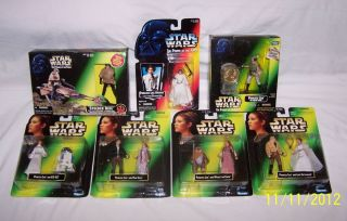 ACTION FIGURE LOT PRINCESS LEIA POTF SPEEDER BIKE HAN LUKE R2 D2 EWOK