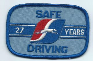 Greyhound Bus Driver Patch Cap Uniform Shirt 27 Years Safe Driving 3