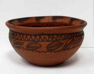 Painted Pot Bowl Mexico El Maya Mexican Folk Art Souvenir
