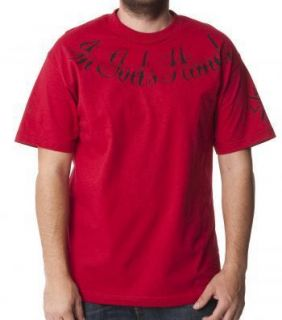 Metal Mulisha Jeremy Lusk in Gods Hand Red Short Sleeved T Shirt Small