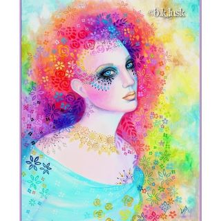 Fairy Gaia Flowers Goddess Purple Pink Goth Punk Fantasy Girl Lusk