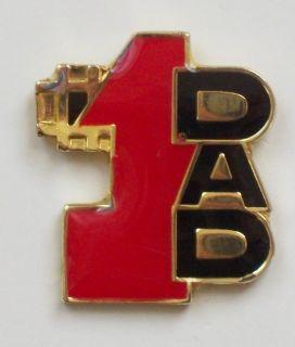 Dad Thank Fathers Day Lapel Pin Love hat Tac Harley Jacket tack
