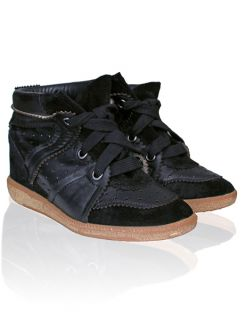 Isabel Marant F W2013 Betty Suede and Leather Sneakers Black Sz 39