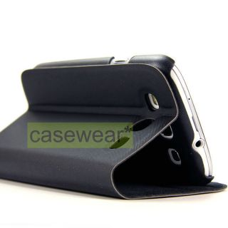 LUXMO DOLCE BLACK FOLDABLE STAND POUCH CASE COVER FOR SAMSUNG GALAXY S