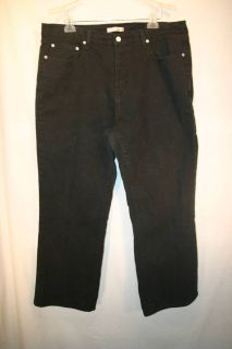 Levi Strauss 550 Relaxed Boot Cut Black Stretch Jeans Plus 22 38 30