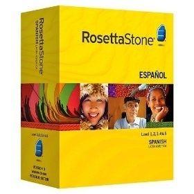 Rosetta Stone Spanish Levels 1 5 Complete Set Version 3 NEW * Free
