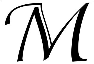 Monogram Vinyl Wall Decal Sticker Home Decor M66 Letter M