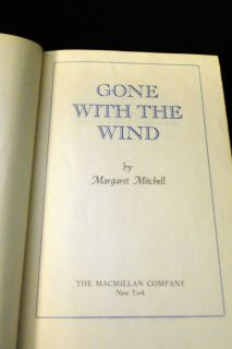 Vintage Gone with The Wind by Margaret Mitchell MCMXXXVI 1936 H7