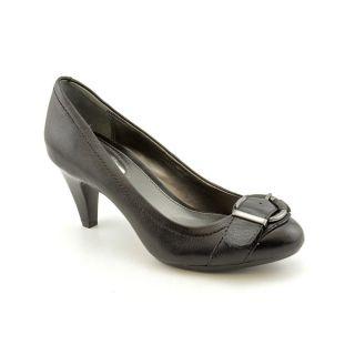 Alfani Lyric Womens Size 9 Black Leather Pumps Classics Shoes