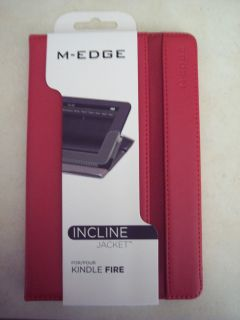 New M Edge Incline Jacket Book Cover  Kindle Fire Red Leather