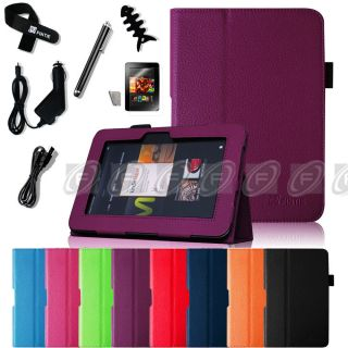 Kindle Fire HD 8 9 inch Leather Folio Case Smart Cover Stand