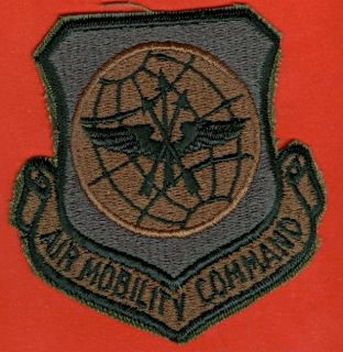 USAF U s Air Force Subdued Air Mobility Command Squadron Patch