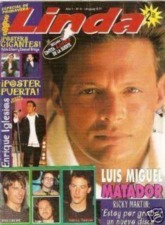 Luis Miguel Ricky Martin Magazine Argentina 1996
