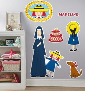 Madeline Wall Stickers Giant Decals 6pcs 37x24 Dog Nun Room Decor