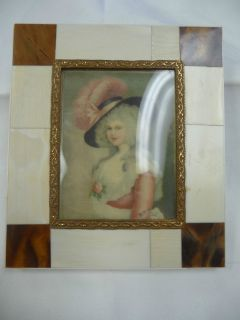 Miniature Portrait of Madame de Pompadour Faux Ivory