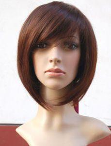 10 New Stylish Bob Short Brown Human Made Straight Hair Wig Wigs
