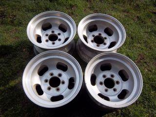 16 5 x 9 75 Vintage Slotted Mag Wheels rims 6 lug 6x5 5 slot Ansen
