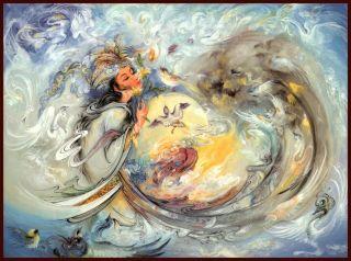Mahmoud Farshchian Bask in The Rays of Love Art PT 69