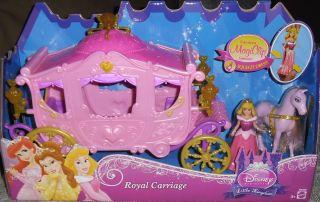 Disney Princess Aurora Magic Clip Royal Carriage Doll Horse Sleeping