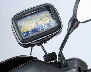 Motorcycle Mirror Mount for 5in Screen Garmin Nuvi Magellan GPS