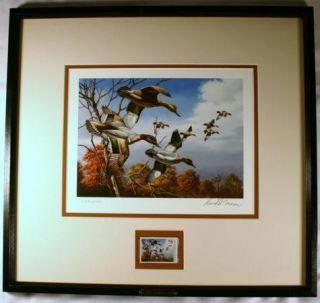 Ducks Unlimited 1986 David Maass 3rd Annual Stamp Print