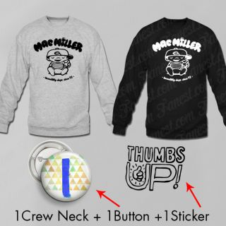 Mac Miller Mega Pack Sweater Button Sticker Most Dope Thumbs Up