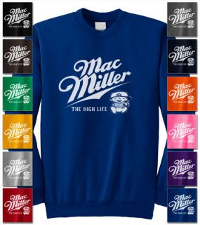 Mac Miller High Life Knock T Shirt Hip Hop sweat Gang Wiz Jumper