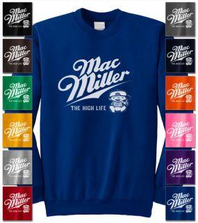 Mac Miller High Life Knock T Shirt Hip Hop sweat Gang Wiz Jumper