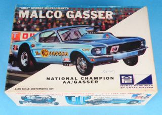 ISSUE MPC MUSTANG MALCO GASSER JAGUAR XKE 1 25 SCALE MODEL CAR KIT 704