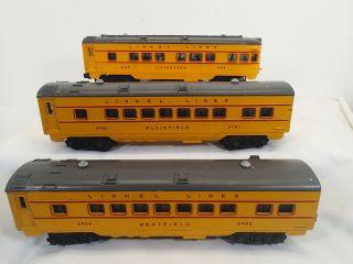 1950 Lionel 2481 2482 2483 Anniversary Passenger Car Set