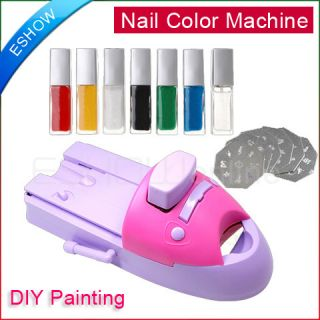 DIY Printer Painting Machine Printing Kit Nail Art Colors 100 designs