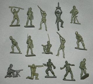 Vintage Lot of Tim Mee Army Men Toy Soldiers Timmee