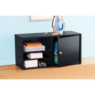 New Mainstays Modular Storage Single Door Add on Kit Black