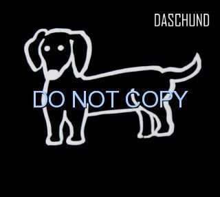 DACHSHUND DACHSUND DOG CAR WINDOW DECAL Sticker VAN Car DASCHUND stick