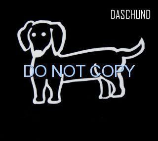 DACHSHUND DACHSUND DOG CAR WINDOW DECAL Sticker VAN Car DASCHUND stick