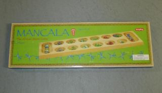 Mancala The African Stone Game Wood Board 2 Players
