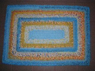 Free Crochet Rectangle Rug Pattern : RECTANGLE RAG RUG CROCHET PATTERN FREE CROCHET PATTERNS