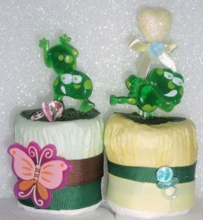 Frog 1 Baby Diaper Cupcakes Cakes Shower Gift Birthday