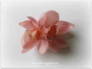 Blush Pink Cymbidium Orchid Bridal Wedding Hair Flower Clip   Bride