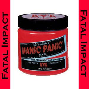 Manic Panic Gothic Goth Punk WILDFIRE RED Semi Permanent Cream HAIR