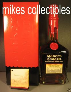 Makers Mark Red Wax VIP Personalized Bottle and Box