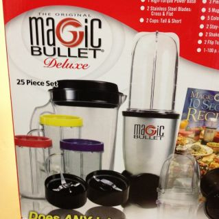 Magic Bullet Express Deluxe 26 pc Blender Mixer Set 25 pc Ice Shaver