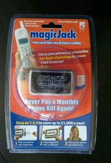 Magic Jack PC to Phone Jack with First Year Phone Service