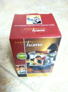 Sarah Peyton Home   Motorized Revolving Photo Cube   Battery Operated