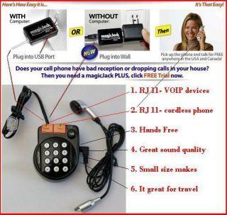 magicJack PLUS netTALK Duo great works w RJ11 Jack Dual Port VoIP